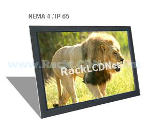 "40"" Widescreen Front NEMA 4 / IP65 Protection LCD Display Panel with Speaker and Remote Controller - I3FP-40W"