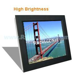"17"" High Brightness and SunReadable Front Aluminum LCD Panel - I7FP-17"