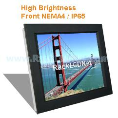 "17"" High Brightness and SunReadable Front NEMA 4 / IP65 Protection LCD Panel - I8FP-17"