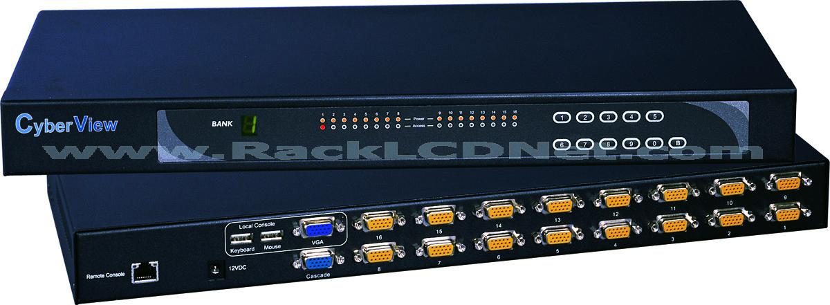 KSI KVM Switch (16-port is shown)