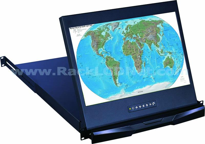 "1U 19"" Rack Mount Widescreen LCD Drawer - LM1P-19W"