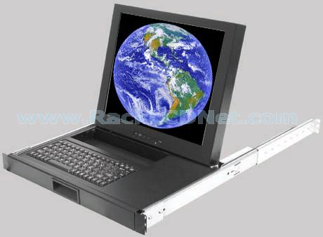 "1U 17"" Rack Mount LCD Monitor Keyboard Drawer with Mouse Storage - LMK1A-17"