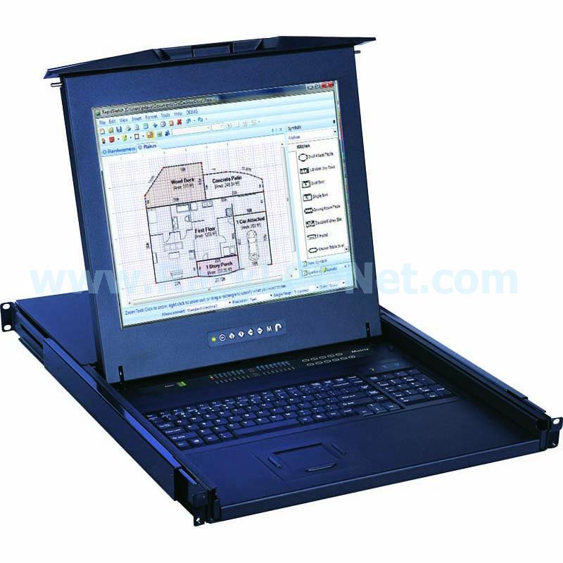 LMK1B Series Rackmount LCD Monitor Keyboard Drawer