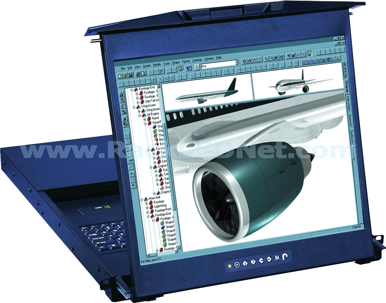LMK1D 1U Dual Slide Rackmount Keyboard Drawer