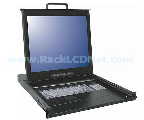 "1U 19"" Rackmount Dual Rail LCD Keyboard Drawer with 8 ports combo-free (USB or PS/2) KVM switch - LMK1P-198CF"
