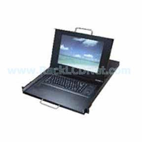 "1U 15"" Rackmount Dual Rail LCD Keyboard Drawer with Cherry Trackball Keyboard - LMK1P2-15TB"
