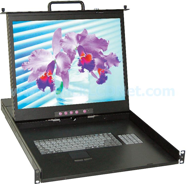 "1U 20"" Rackmount LCD Monitor Keyboard Drawer - LMK1R-20CF"