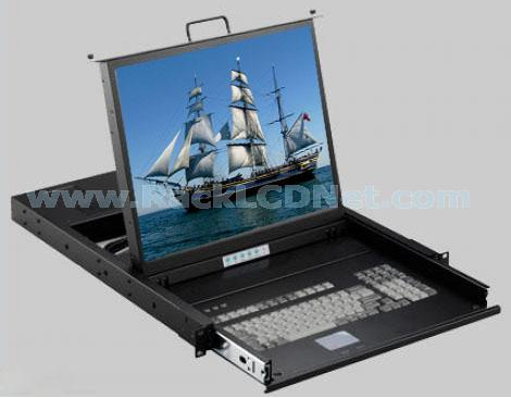 "1U 17"" Rack Mount LCD Monitor Keyboard Drawer (PS/2) - LMK1T-17"