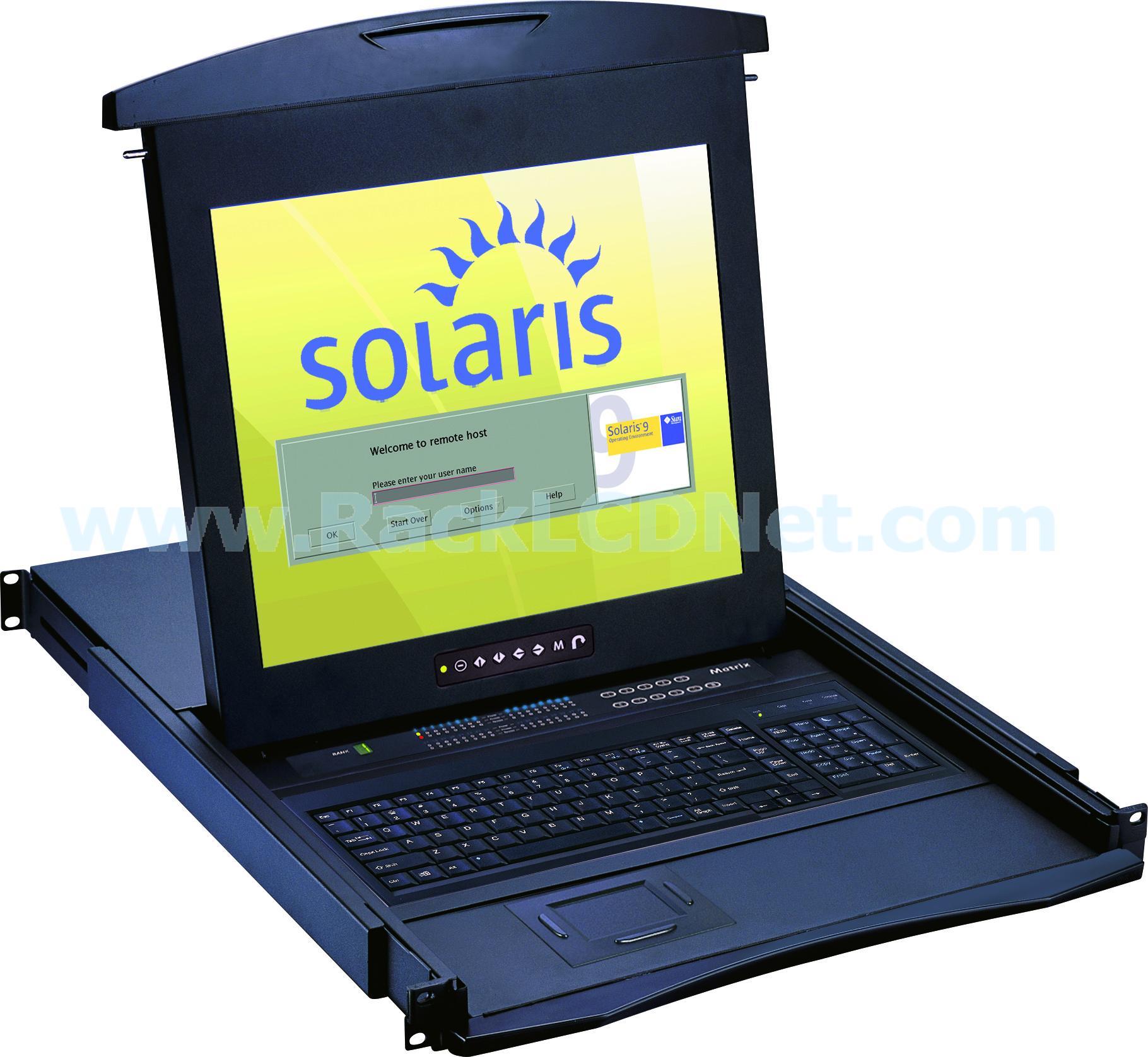LMK1NS17 1U SUN Rackmount LCD Keyboard Drawer