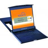 LMK1DS 1U Dual Slide LCD Keyboard Drawer