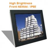 "19"" High Brightness and SunReadable Front NEMA 4 / IP65 Protection LCD Panel - I8FP-19"