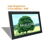 "22"" Widescreen High Brightness and SunReadable Front NEMA 4 / IP65 Protection LCD Panel - I8FP-22W"