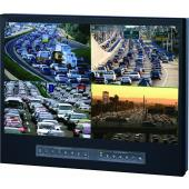 "LM9P-22WQ 9U 22"" Rackmount Widescreen LCD Quad Display"