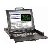 "1U 17"" Rackmount Dual Rail LCD Touchpad Keyboard Drawer with 16 ports combo-free (USB or PS/2) KVM switch - LMK1P-1716CF"