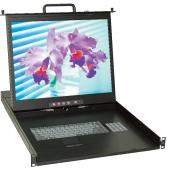 "1U 20"" Rackmount LCD Monitor Keyboard Drawer - LMK1R-20CF"