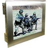 "17"" Military Grade NEMA 4X Stainless Steel Panel Mount LCD Display - MLDC-1700"