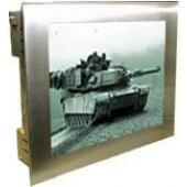 "19"" Military Grade Mount NEMA 4X (IP66) Stainless Steel Panel Mount LCD Display - MLDC-1900"