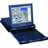 LMK2BD17 2U Dual Slide Short Depth LCD Keyboard Drawer