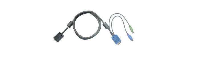CD PS/2 3-in-1 KVM cable for rack  mount LCD monitor keyboard drawer KVM switch