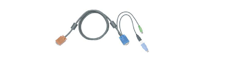 CE PS/2 USB combo cable for rack  mount LCD monitor keyboard drawer KVM switch