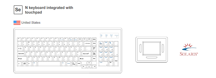 NS Keyboard Integrated with Touchpad