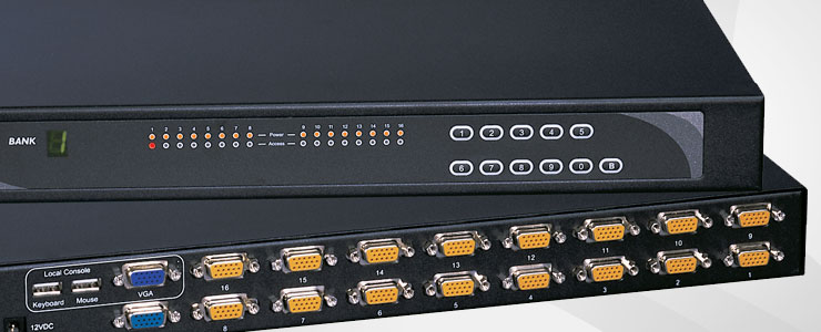 Rackmount PS/2 USB CAT5 CAT6 IP KVM Switches